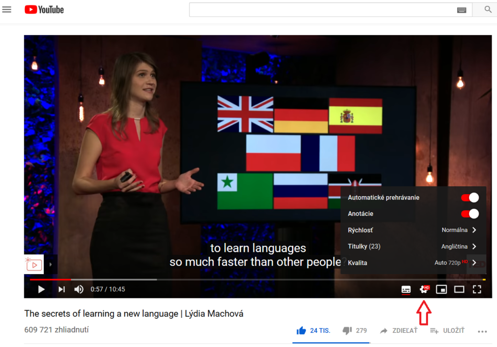 Youtube, Lýda Machová: The secrets of learning a new language