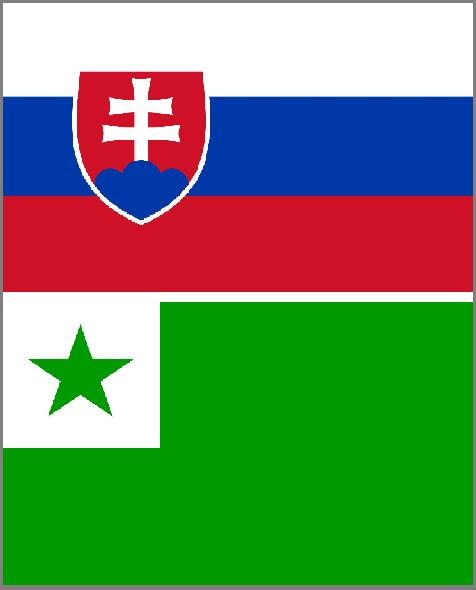 vlajky, esperanto, Slovensko