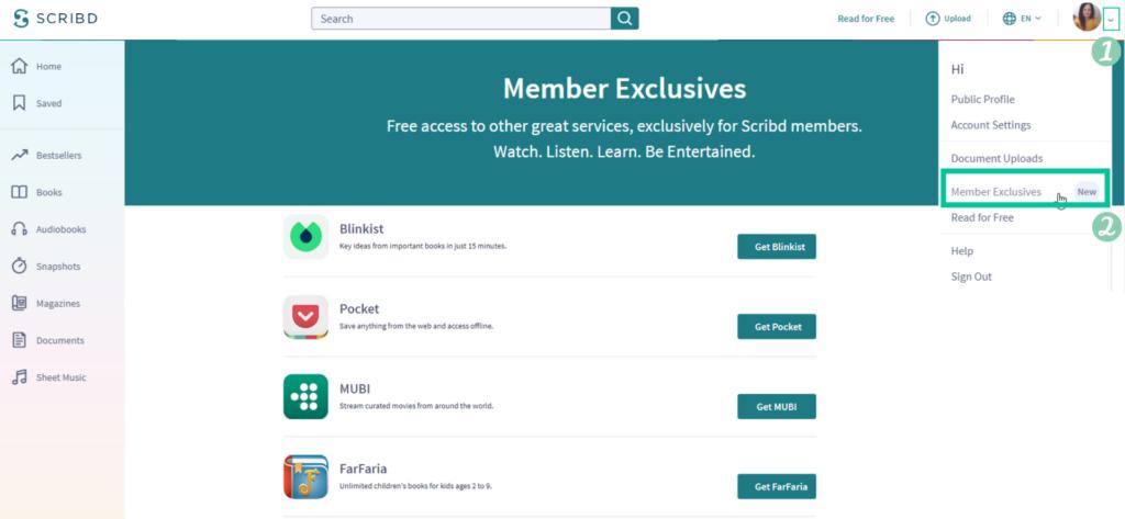 Všetci používatelia majú kdispozícii aj štyri skvelé bonusové služby: Blinkist, Pocket, MUBI aFarFariu.