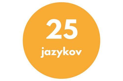 25 naučených jazykov