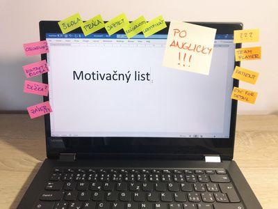 Ako napisat motivacny list poanglicky