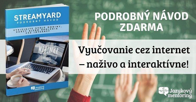 Navod nainteraktivne vyucovanie online StreamYard