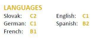 Úroveň jazykových zručností podľa európskeho referenčného rámca