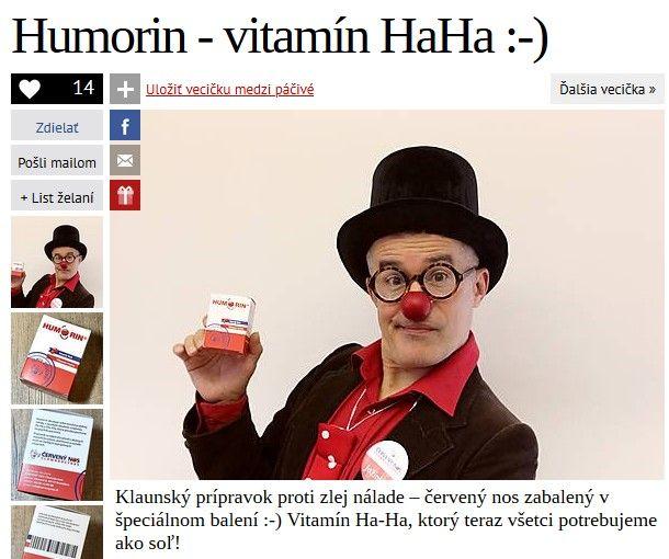 Humorin je červený klaunský nos